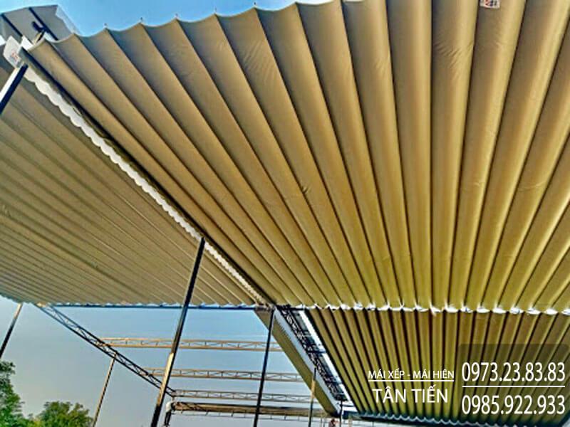 Dễ dàng thi công mái xếp Đà Nẵng trên diện tích lớn